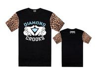 21 style fashion 2014 man hip hop Brand new style crooks castles and Diamond summer shirt mens t shirt