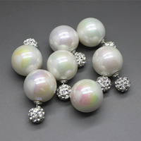 2014 New Pearl Earring Jewelry, Double Faced Neon Pearl Stud Earrings, Elegant Shamball Earrings For Women, Free shipping JJ122