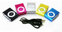 Wholesale MINI clip MP3 Player with Micro TF/SD card Slot with mini MP3 with usb no  earphone  free shipping