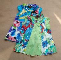 High quality 2014 summer catimini brand girl dress, floral children princess dresses, designer dress girl, kids girls dresses
