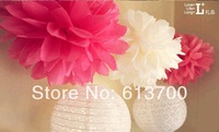 "300 pcs 32 Colors 10"" Tissue Paper Pom Poms 25 cm ball--Weddings- Birthday-Decorations-Baby Shower-home decorative flower decor"