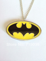 Hot wholesale 10pcs/lot silver charm movie jewelry Batman pendant pocket watch necklace,original factory supply