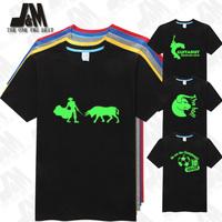 SPAIN DESIGUAL STLYE T SHIRT BULLFIGHTING TSHIRT MEN ORIGINALITY Bull Glow T-Shirt 5 Colors S-6XL