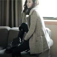 New Woolen outerwear elegant overcoat female outerwear 2014 autumn and winter women woolen slim woolen