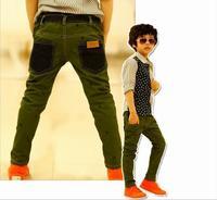 Spring 2014 Korean Version of The New Children's Wear Cowboy. Animal print boy pants