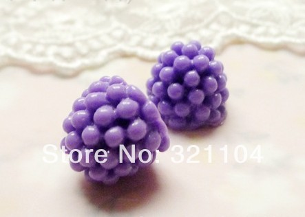Free ship!!!             Purple mulberry fruit 15 mm  fillers decorations DIY glass bottle(China (Mainland))