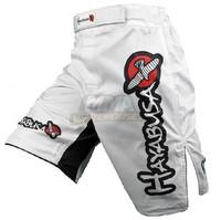 New 2014 Hot Sale Mens Shorts MMA Haybusa Shian Fight White Shorts Sports Brand Free Shpping