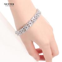 Austria crystal bracelet female fashion multi-layer fashion jewelry popular handmade accessories