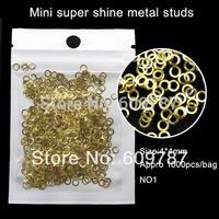1000pcs Gold Round Metal Stud Rivets Shiny Beads Nail Art Phone DIY Rhinestone Decoration