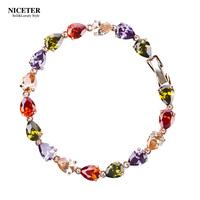 Multicolour zircon bridal bracelet women's fashion bracelet day gift