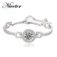 Niceter austria crystal bracelet hearts and arrows zircon women's accessories