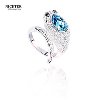 Niceter austria crystal ring female fashion