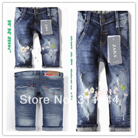 HOT! 2014 New Arrival Zar8827a High quality fashion boys jeans baby trousers children jeans size:2/3t 3/4T 4/5T 5/6T 7/8T 9/10T