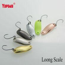 YAPADA Colher 007 Loong Escala 6pcs 2,5 g 28 milímetros / lote 6 cores de metal Colher Lures(China (Mainland))