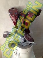 Maruman FL Ladies Golf Complete Set Driver Fairway Woods Graphite L Shafts Irons #5-9PAS Golf Putter With Bag