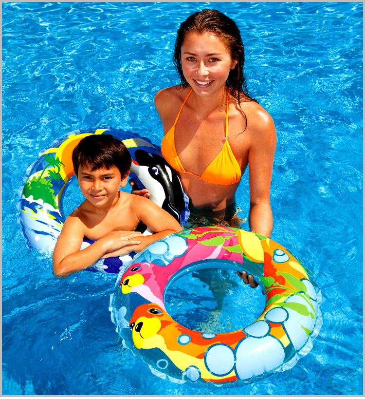 2014 Fashion Summber Kids Children Floating Ring Swimming Ring Round Swim Ring For 5-10 Years Old 4 Patterns To Choose(China (Mainland))