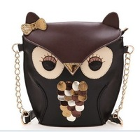 2014 Hot Rebecca's Secret Fox Owl PU Leather bag girl lady Women Messenger Bags Woman Shoulder Handbag Cross Body