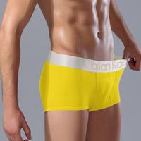 Men's sexy panties 100% cotton male trunk solid color boxer shorts panties 3