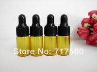 5pcs 3ml Amber Small Glass Dropper Bottles/Vials For Essential Oil,Perfume Sampling