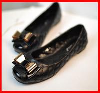 2014 Spring new star style casual flat heel women shoes female metal bow sweet women flats luxury brand big plus size 40 41 42