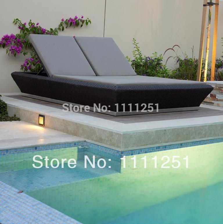 2014 Swimming Pool Outdoor Furniture Twin Sunbed Lounge