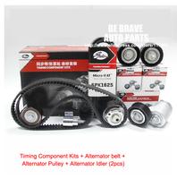 Chery, A5, A3, Tiggo, Eastar engine  SQR484 / 481 Timing drive belts kits + Alternator belt kits:Drive Belt, pulley, idler