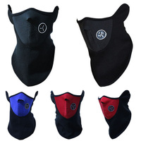 Best Warm Face Mask For Riding Bike Cycling Ski Snowboard Motorcycle Black Red Blue Option High Quality  Polar Fleece