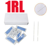 500x 1R Makeup Needles Permanent  Tattoo Make-up Eyebrow Lip Round Needle Sterilized CN01