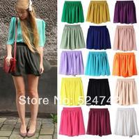Free shipping New Fashion 19 colors Cindy Colors patterns summer cheap short fashion skirt lady chiffon mini skirts
