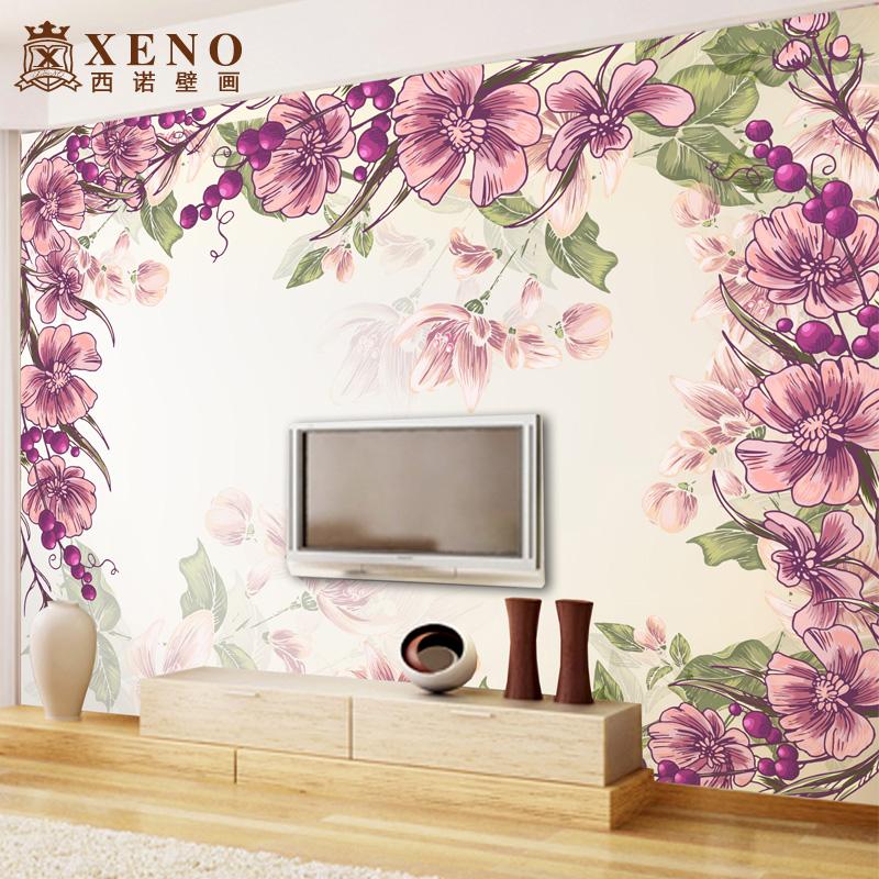 Romantic bedroom wall murals