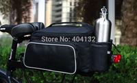 Bicycle Rear Frame Seat Bag Bike Cycling Travel Pouch + Shoulder Strap  Black 10L - 50pcs/lot