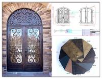 Best wrought iron door entry door ---ETN D1002 door with best price and high quality