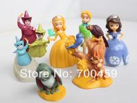 Free shipping 6pcs/set Sofia pricness doll,princess sofia PVC doll Christmas gifts,Sofia the first pvc collection figure
