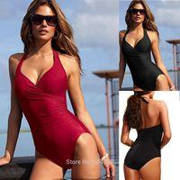 New Hot Lady Piece Swimsuit Bikini Push-Up Beach Swimwear Sling V Neck Swimsuit