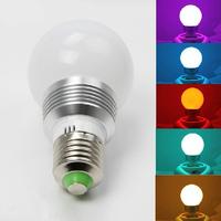 Remote control led bulb energy saving lamp full color RGB remote Colorful bulbs 7w e27 E26 screw Free Shipping