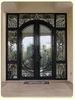 ETN ornamental iron entry doors, D1006 sliding glass doors