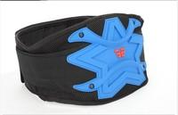 Lightweight and slim design motorcycle motorsports kidney belt blue ski protector back wear integrate into racing pants
