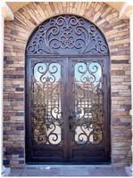 Free shipping door ETN D102 exterior iron doors