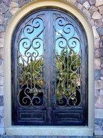 Best wrought iron doors ---ETN D101 exterior doors free shipping