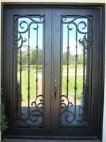 ETN D1006 exterior iron doors ,craft iron inserts for wrought iron doors