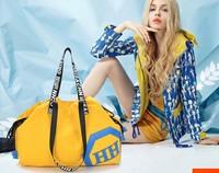 2014 Promotion Sale Large(>50cm) Interior Pocket String Shoulder Bags Women Solid Soft Women's Handbag Canvas Bag Big Outdoor