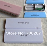 DIY Kit Dual USB 5V 1A 2A Mobile Power Bank 18650 Battery Charger Box For Phone free shipping