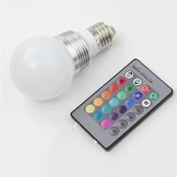 Remote control led bulb energy saving lamp full color RGB remote Colorful bulbs 7w e27/E26 screw