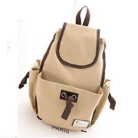 new fresh Spring double-shoulder women canvas backpack women's school bag casual satchel