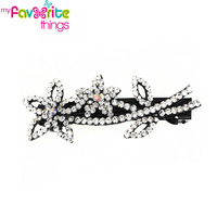 New Design Fashion Sparkle Flower Rhinestone Hairpin Clip Clamp Headwear Hair Accessories For Women Girls Jewelry  Free Shipping