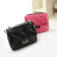 2014 women's handbag small plaid chain bag small bag mini bag small cross-body bag female mobile phone bag
