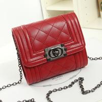 Fashion women's handbag small bags 2014 trend fashion messenger bag female small plaid chain bag