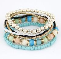 Min.order is $10 (mix order) SJB460 Fashion Bead Charm Bracelet bangle jewelry!Free shipping