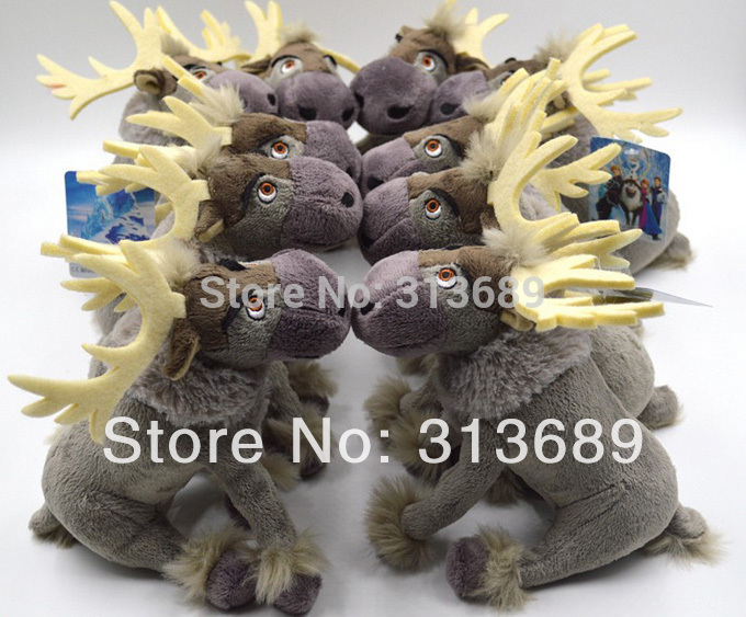Retail 21cm Sven Plush Doll Frozen doll SVEE baby doll Movie Action Figures Plush Toy Milu Deer 38606531346 1404z cux(China (Mainland))