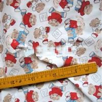 "Colourful Cartoon Baby Bear Comfortable Soft 100% Cotton Fabric 20"" X 63"" FCX56"